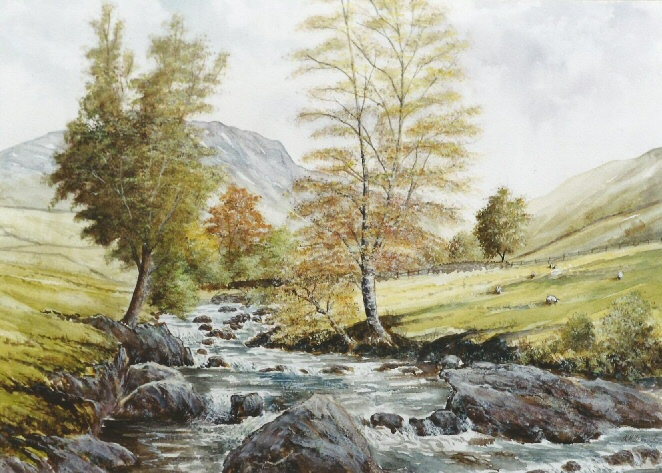 watercolour landscape by Keith Fenwick